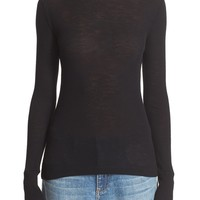 T by Alexander Wang Sheer Wool Turtleneck | Nordstrom