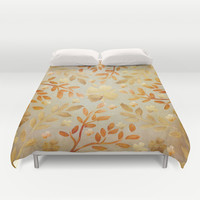 Golden Autumn Duvet Cover by Lisa Argyropoulos