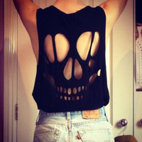 Skull cut out tank