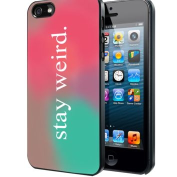 Stay Weird Funny Pink And Green Ombre Cute Tumblr Samsung Galaxy S3 S4 S5 Note 3 , iPhone 4 5 5c 6 Plus , iPod 4 5 case