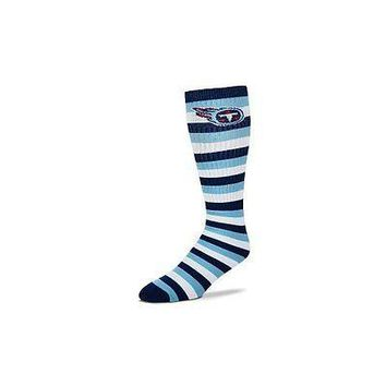 Tennessee Titans Striped Knee High Hi Tube Socks One Size Fits Most Adults