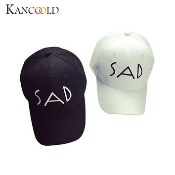 Unisex Cotton Embroidery Letter SAD Baseball Cap Snapback Caps Bone Hat Distressed Wearing Style SunHat Dec13