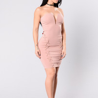 Bass In The Trunk Dress - Mauve