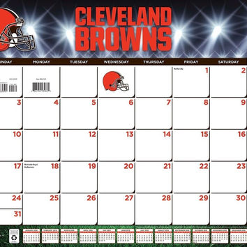 "Turner Cleveland Browns 2016 Desk Calendar January-December 2016 22 x 17"" (80..."