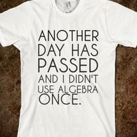 Supermarket: Algebra T-Shirt from Glamfoxx Shirts