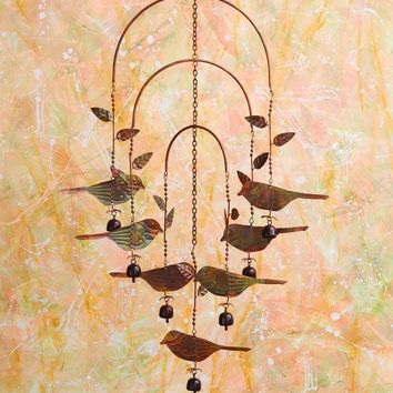 Hanging Birds w/Bells Mobile Wind Chime