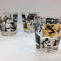 Vintage Morning After Whiskey Glasses by vintage19something