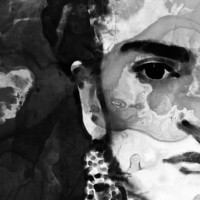 Black And White Frida Kahlo By Sharon Cummings Poster