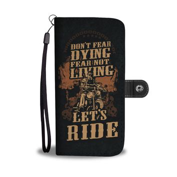 Let's ride motorcycle design phone case, wallet