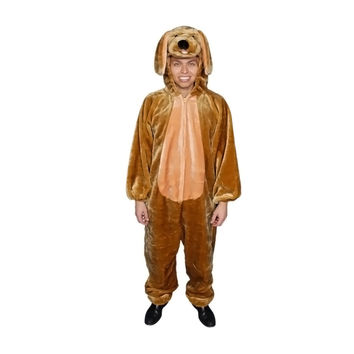 Adult Brown Puppy Plush Costume - Size Adult (one size fits most)