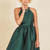 Fleurs Truly Fit and Flare Dress in Forest | Mod Retro Vintage Dresses | ModCloth.com