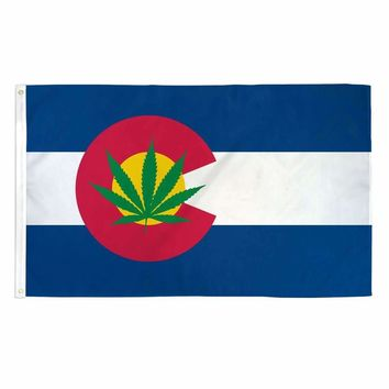 Colorado Weed Flag 3x5 Feet