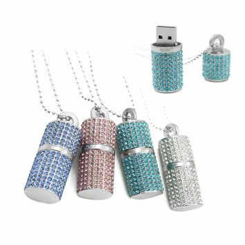 ON SALE - 8G Crystal Encrusted USB Flash Drive Memory Stick