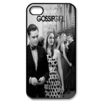CTSLR Movie & Teleplay Series Protective Hard Case Cover for iPhone 4 & 4S - 1 Pack - Gossip Girl - Blair & Chuck