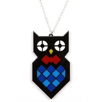 Owl Necklace from Candy Stripe Cloud