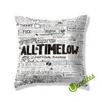 all time low music quote Square Pillow Cover