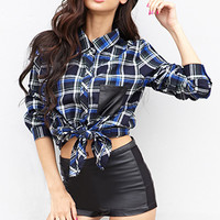 Edgy Plaid Shirt