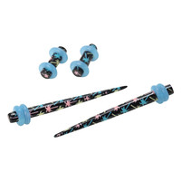 Acrylic Pastel Palm Tree Micro Taper And Plug 4 Pack