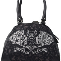 Liquorbrand Tat Bat Halloween Vampire Bat Gothic Symbols Tattoo Black Bag Purse