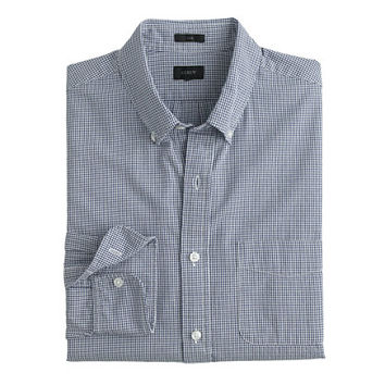 J.Crew Mens Seersucker Shirt In Microgingham