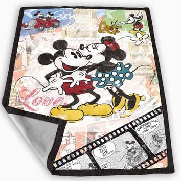 Minnie and mickey mouse vintage Blanket for Kids Blanket, Fleece Blanket Cute and Awesome Blanket for your bedding, Blanket fleece *