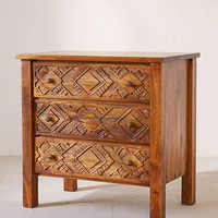 Amira Carved Wood Dresser | Urban Outfitters