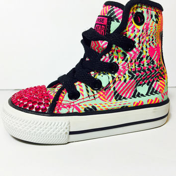 New Item! Tribal Converse Sparkle Peep Toe