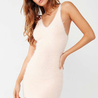 UO Fluffy Bodycon Mini Dress | Urban Outfitters
