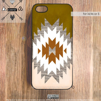 iPhone 5 Case Wood Print Geometric iPhone 4 Case by casesbycsera