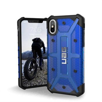 DCCKRQ5 UAG iPhone X Plasma Feather-Light Rugged [COBALT] Military Drop Tested iPhone Case