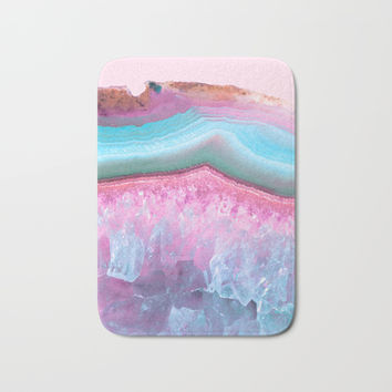 Rose Quartz and Serenity Agate Bath Mat by Cafelab