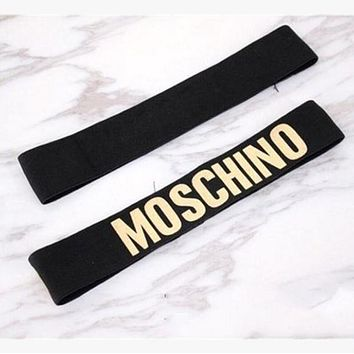 MOSCHINO Sport Yoga Gym Motion Headband Hair Hoop Gold
