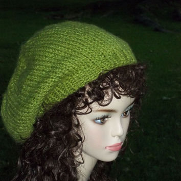 Knit Slouch Hat Pattern PDF