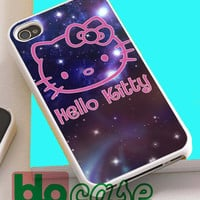 Hello Kitty On Galaxy For Iphone 4/4s, iPhone 5/5s, iPhone 5C, iphone 6, and iPhone 6 Plus Case