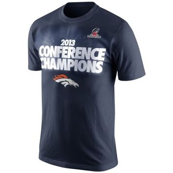 Nike Denver Broncos 2013 AFC Champions Glow T-Shirt - Navy Blue