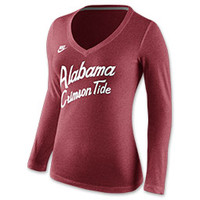 Women's Nike Alabama Crimson Tide College Rewind Script Long-Sleeve Shirt