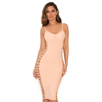 'Be Your Friend' Hollow Out Bodycon Pencil Dress