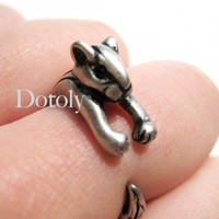 Chipmunk Ring in Silver Size 5 to 9 available | dotoly - Jewelry on ArtFire