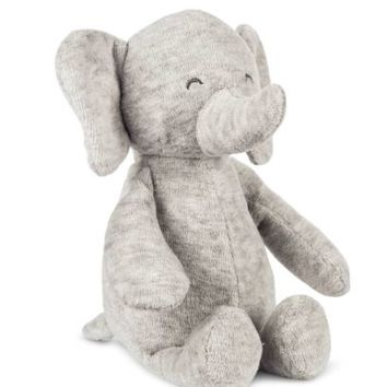 NWT Carters Precious Firsts Gray Grey Elephant Plush Stuffed Rattle Toy 67062