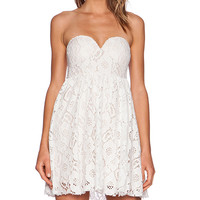 Toby Heart Ginger Summer Lace Strapless Dress in White