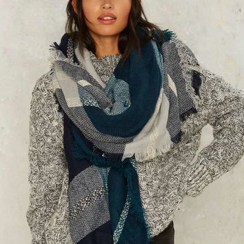 Westminster Blanket Scarf - Blue