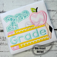 Back to School - Second Grade - Customized Tee Shirt - Customizable