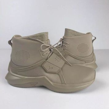 PEAPON NEW Womens Puma Fenty The Trainer Hi By Rihanna Sesame Nude Size 8