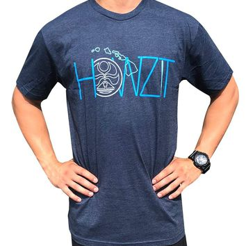 "HIC ""Howzit"" Mens Navy Blue T-Shirt"