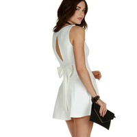 Sale-ivory Fine And Dainty Skater Dress