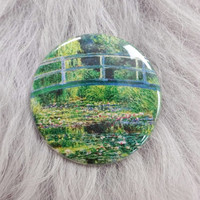 Water Lilies Lily Pond Monet Impressionist Fine Art Classical Pin Badge