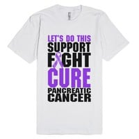 Cure Pancreatic Cancer Shirt-Unisex White T-Shirt
