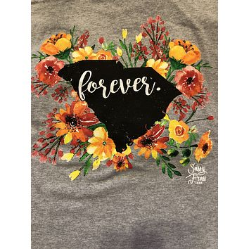 SALE Sassy Frass South Carolina Forever Flowers SC State Design Girlie Bright T Shirt