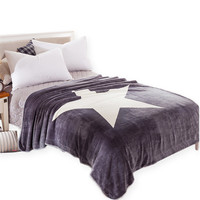 BeddingOutlet Star Blanket Gray and White Throw Blanket on the Bed Sofa Super Soft Bedding 100x150 150x200cm Size Sheet