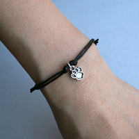 Paw Print Bracelet / Paw Print Anklet (many colors to choose)